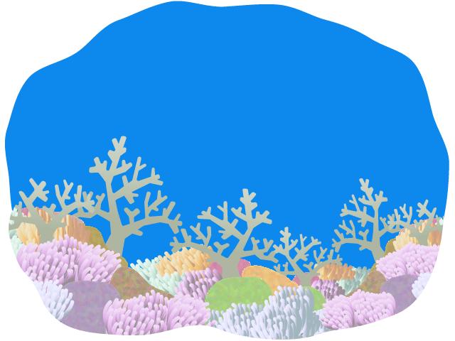 珊瑚が広がる海底のイラスト