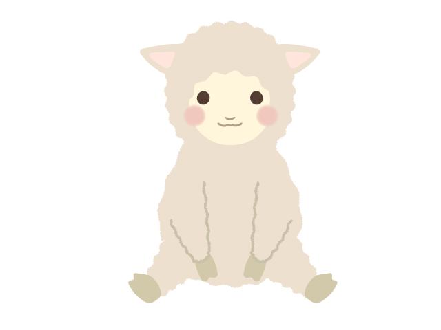 羊 ヒツジ のイラスト イラスト本舗