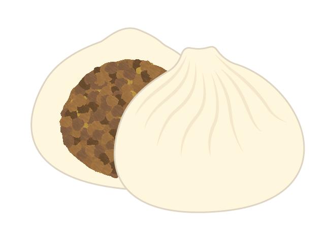 肉まんのイラスト