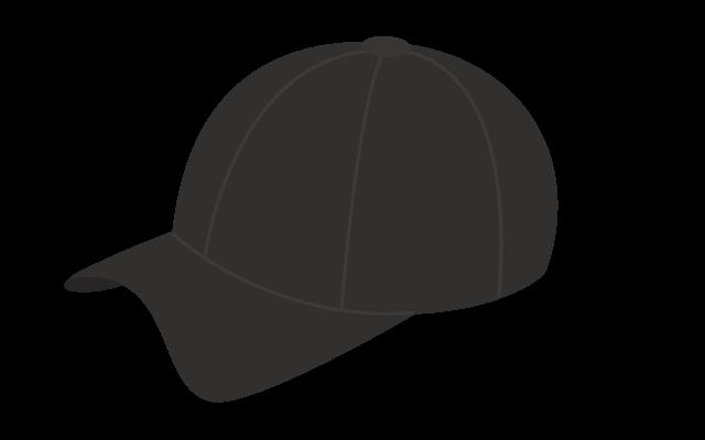 つば付き帽子のイラスト