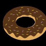 チョコレートドーナツのイラスト