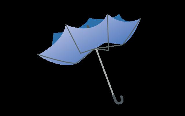 壊れた傘のイラスト