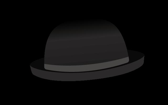 山高帽子のイラスト
