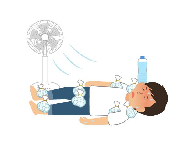 熱中症で倒れた人のイラスト イラスト本舗
