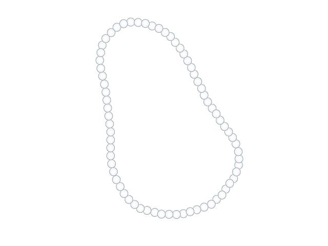 真珠ネックレスの無料イラスト