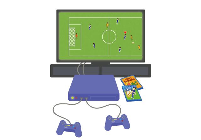 テレビゲームのイラスト