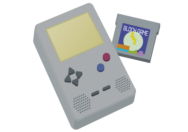 小型ゲーム機のイラスト