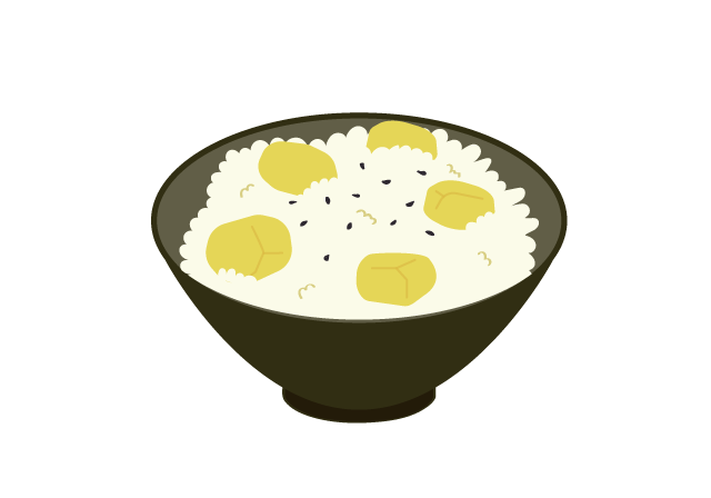 栗ご飯のイラスト イラスト本舗