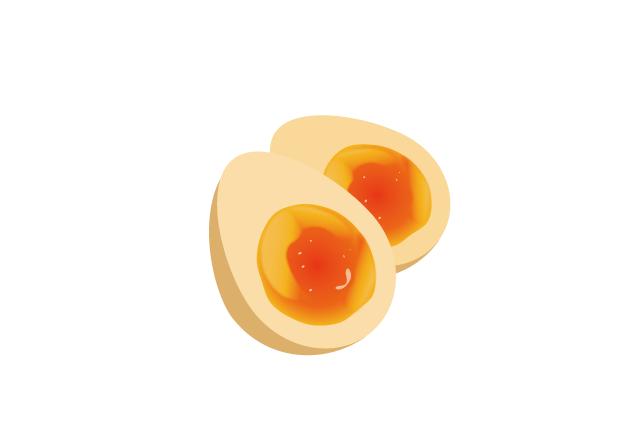 煮玉子のイラスト