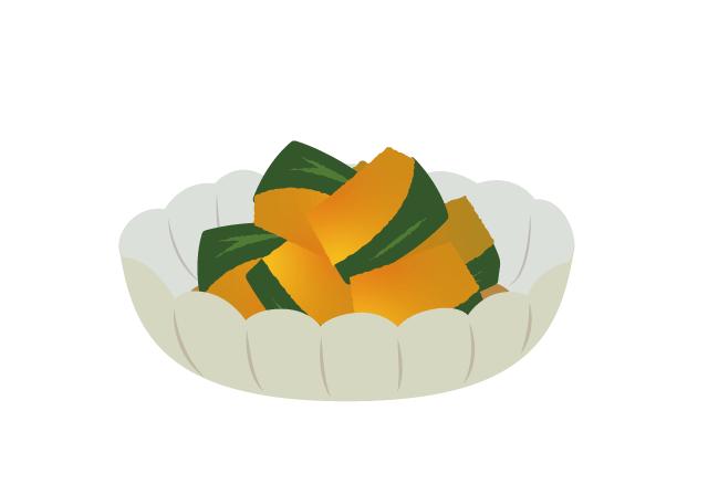 かぼちゃの煮物のイラスト