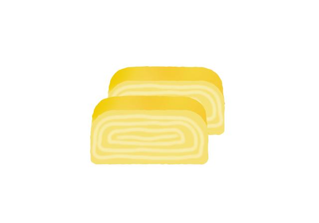 だし巻き卵のイラスト