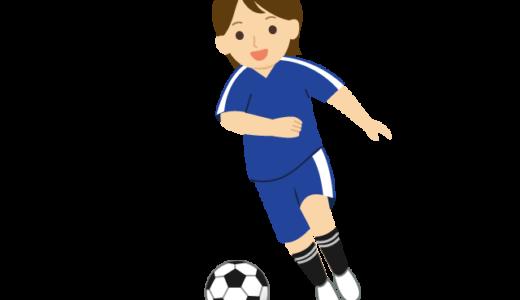 サッカーをしている人のイラスト
