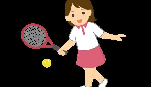 テニスをしている人のイラスト