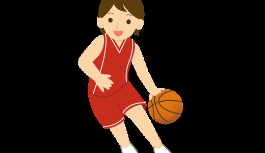 バスケットボールをしている人のイラスト