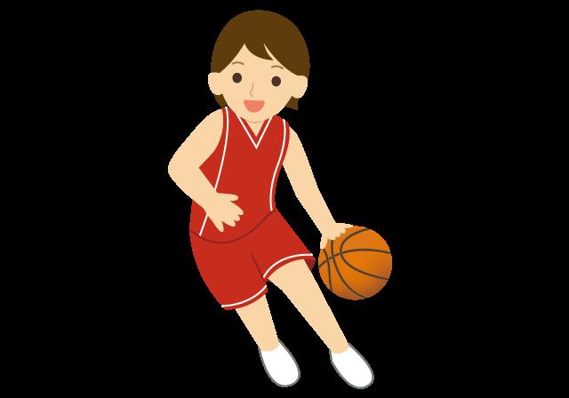 バスケットボールをしている人のイラスト イラスト本舗
