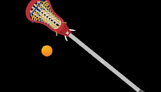 ラクロス(クロスとボール)のイラスト