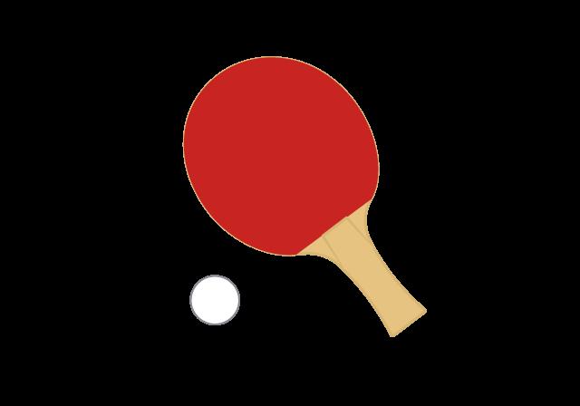 卓球 ラケットとボール のイラスト イラスト本舗
